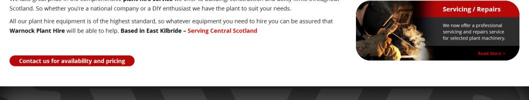 plant hire scotland